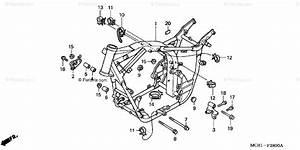 Honda Motorcycle 2006 Oem Parts Diagram For Frame