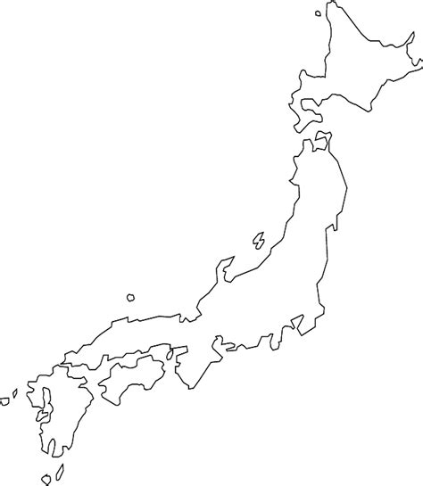 japan map outline sketch coloring page