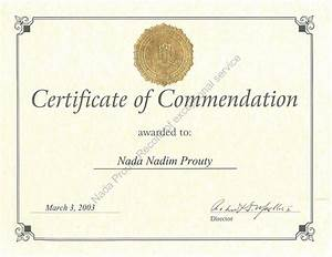 Nada prouty exposing the truth for Certificate of commendation usmc template