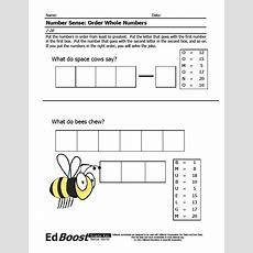 Ordering Numbers Whole Numbers (120) Puzzle Edboost