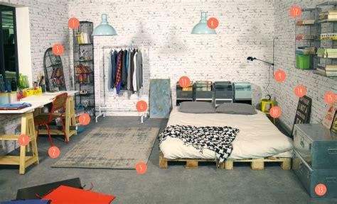 bureau industriel vintage chambre atelier d 39 artiste pour défi d intérieur s