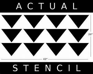 Allover Wall Stencil - Mod Triangle PATTERN - Allover