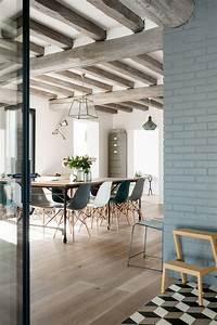alice b rencontre un archi rehabilitation d39une maison With salle À manger contemporaine avec sol gris cuisine