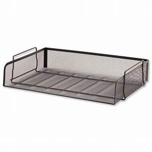 mesh letter tray scratch resistant stackable side load With stackable letter trays side loading