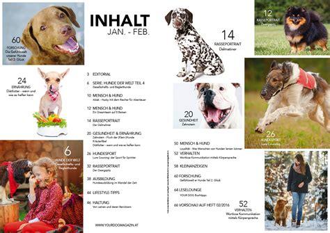 Das Lesen Sie Der Januarfebruar Ausgabe by Inhalt Magazin 01 2016 Your Hundemagazin
