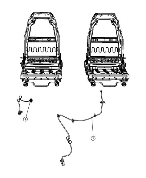 Jeep Wrangler Wiring Right Seat Air Bag