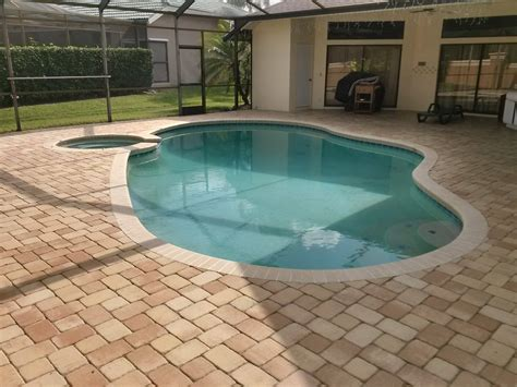 Cleaning Pool Deck With by Pressure Washing Services Oldsmar Florida