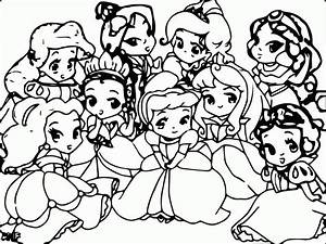 all disney characters coloring pages - disney baby princess coloring pages coloring home