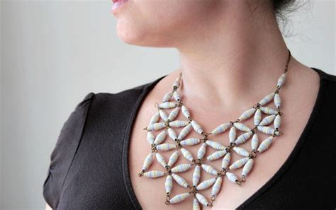 la perle gorgeous make a gorgeous designer style geo necklace with paper