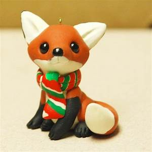 Cute fox ornament, easy to make with polymer clay ...