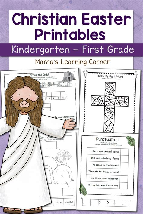 christian easter worksheets  kindergarten