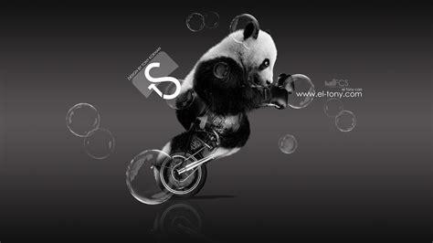 moto retro fantasy panda boxing art  el tony
