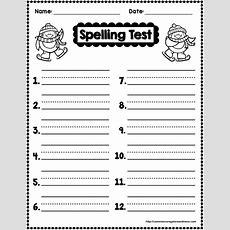 Winter Spelling  Secondgradesquadcom  Spelling Test Template, Spelling Test, English Spelling