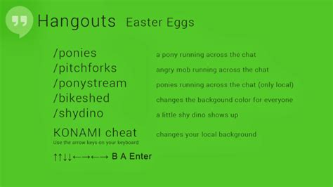 google hangouts easter eggs revealed include ponies