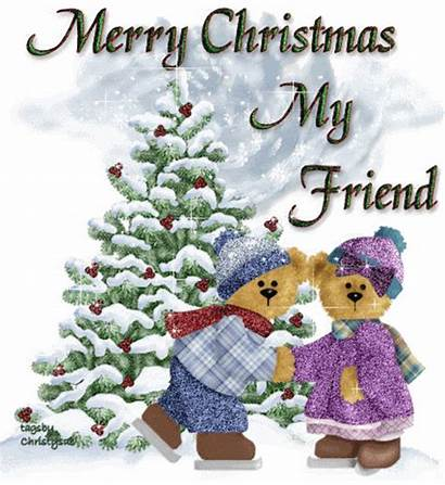 Merry Christmas Friend Friends Happy Quotes Xmas