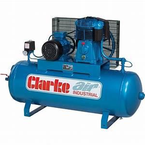 Clarke Se36c270 36 Cfm 7 5 Hp 3 Phase 410 Volt Industrial