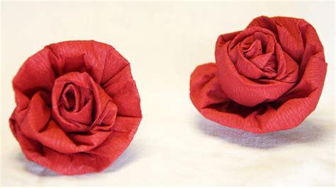 blumen krepppapier anleitung blumen basteln aus krepppapier feinkrepp basteln how to make crepe paper roses flowers