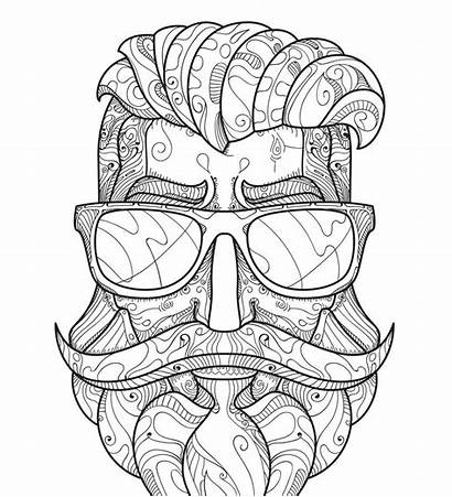 Coloring Hipster Pages Adults Adult Printable Activity