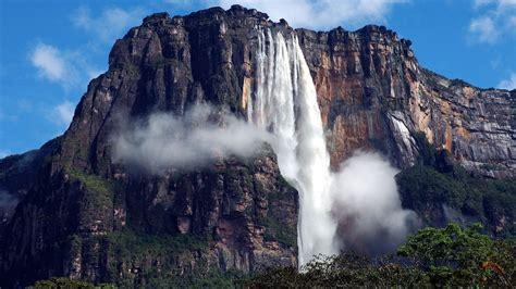 Angel Falls Venezuela Waterfall Nature Landscape Mountain Rock Wallpapers Hd Desktop And