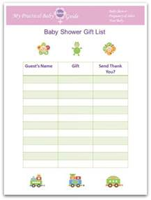 bridal gift record book baby shower sign in sheet printable free search results