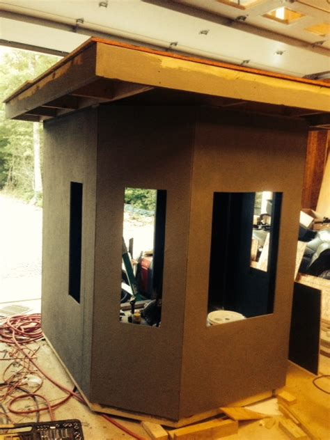 box blinds for box blind build deer forum