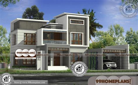modern house plans kerala story flat roof contemporary design