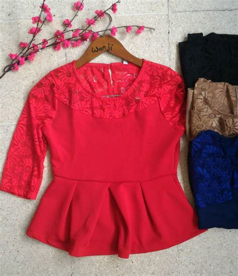 Wk100556 Baju Import jual baju imlek sincia xincia baju import korea renda