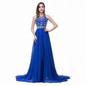 real photo vestido de festa beaded sequin a line royal With robe en sequin