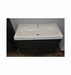 ensemble de salle de bain guadix gris 60cm meuble salle With porte d entrée pvc avec meuble vasque salle de bain 60 cm largeur