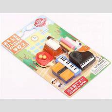 Set 12 Gomas De Borrar útiles Escolares Deporte Música De Iwako Japón, Gomas Chulas, Gomas De