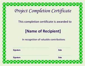 free certificate of completion project templates at With certificate template for project completion