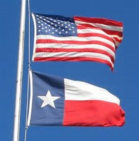 Image result for american flag and texas flag