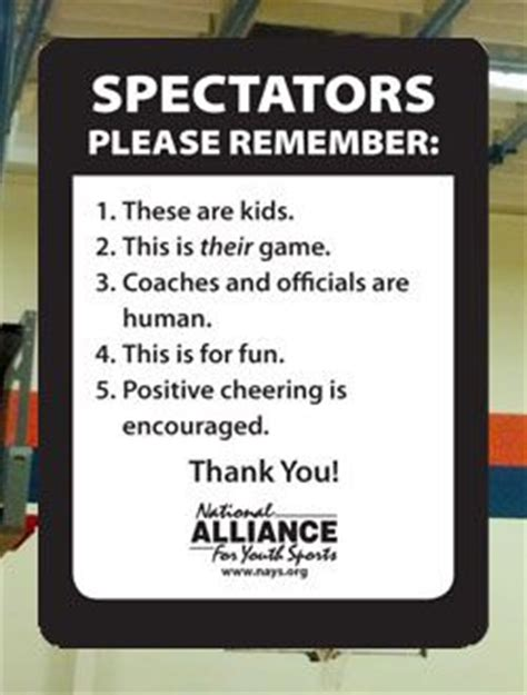 Youth Sports Spectators Please Remember 1 These Are Kids. Bathrrom Signs. Green Road Signs Of Stroke. Mimic Signs Of Stroke. Coronary Signs. Parent Signs Of Stroke. Hemispheric Signs. Pregnancy Signs. Virgo Man Signs