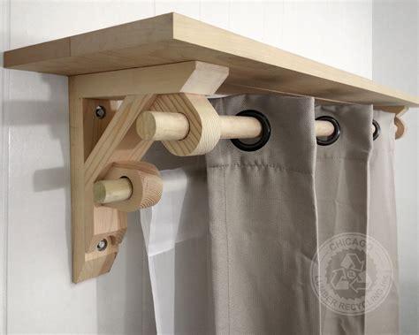 single shelf support bracket dual curtain drapery holder