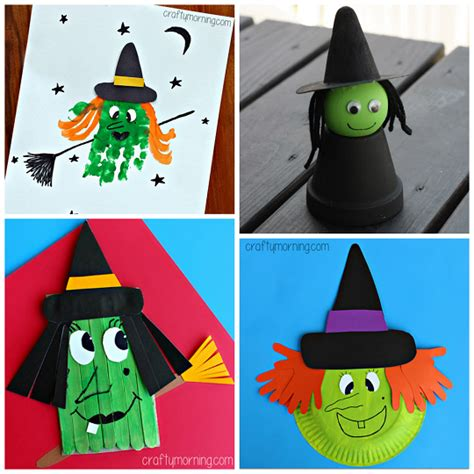 Witch Crafts For Kids To Make This Halloween  Crafty Morning