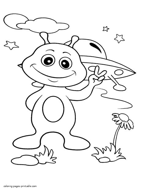 alien  earth coloring pages outer space space