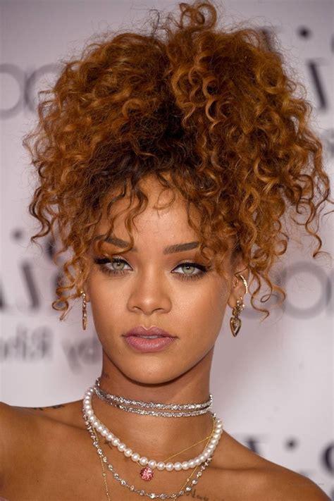 Rihanna Curly Hairstyle by Curly Rihanna Hairstyles Fade Haircut