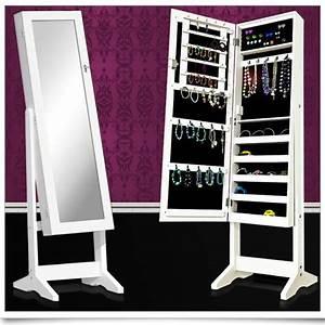 Miroir Boite A Bijoux : armoire de rangement pour bijoux avec miroir bl achat ~ Teatrodelosmanantiales.com Idées de Décoration