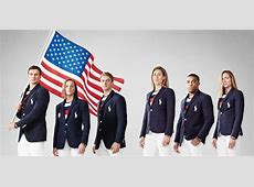 Usa Olympic Uniforms Opening Ceremony Long Sweater Jacket