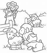 Coloring Farm Sheep sketch template