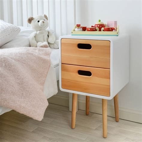 childrens bedside table ls children 39 s solid wood bedside table with white finish by