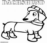 Coloring Pages Dachshund Daschund Funny Print Sheet sketch template