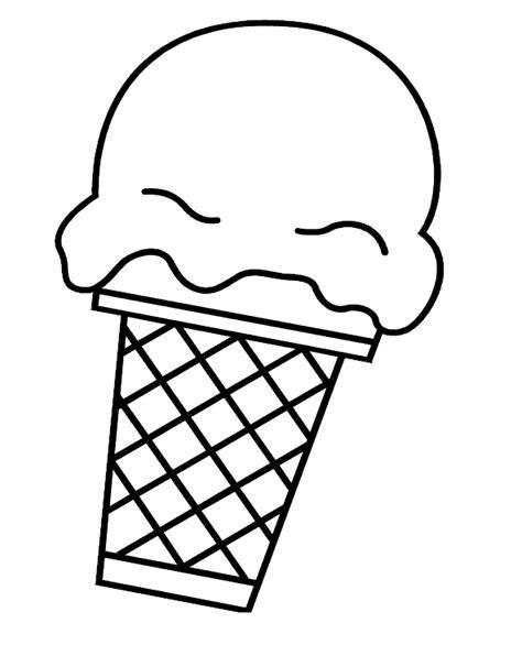 ice cream cone clip art black  white clipart panda