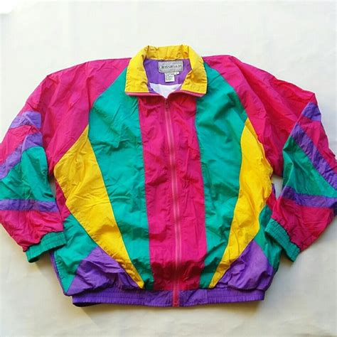 colorful windbreakers vintage jackets coats multicolor windbreaker poshmark