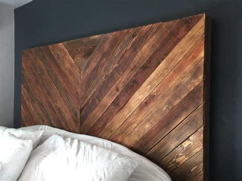 beautiful hand crafted chevron wood headboard reclaimed