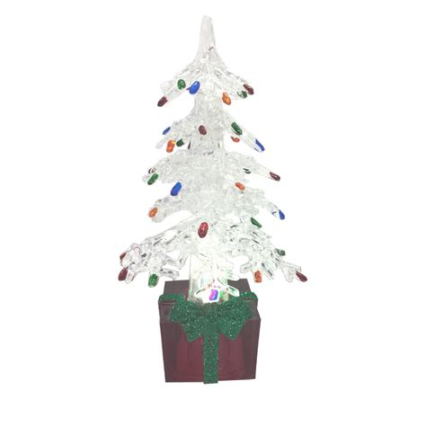 trim a home 174 6in led light up mini white christmas tree