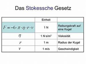 Was Ist Viskosität : reibungskraft an einer kugel in laminarer str mung ppt ~ Lizthompson.info Haus und Dekorationen