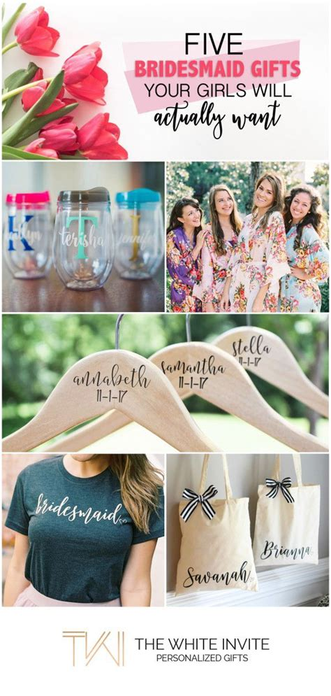 bridesmaid gifts ideas  pinterest