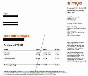 Simyo Rechnung : simyo support e mail und simyo kundennummer finden ~ Themetempest.com Abrechnung