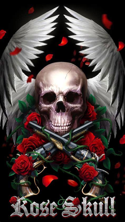 beautiful rose skull  wallpaper skull art skull